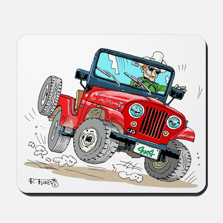 Willys-Kaiser CJ5 jeep Mousepad