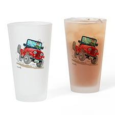 Willys-Kaiser CJ5 jeep Drinking Glass
