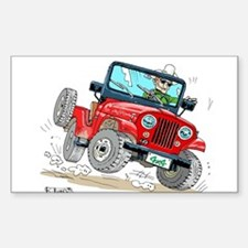Willys-Kaiser CJ5 jeep Decal