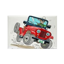 Willys-Kaiser CJ5 jeep Rectangle Magnet