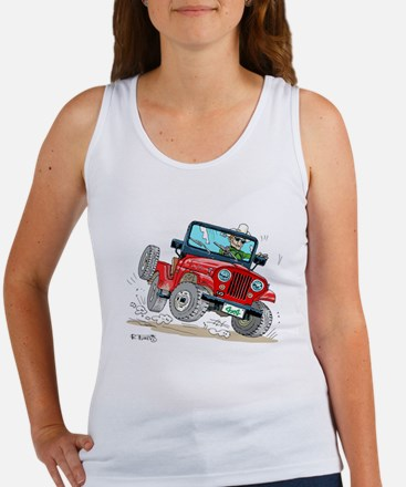 Willys-Kaiser CJ5 jeep Women's Tank Top
