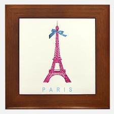 Pink Paris Eiffel Tower Framed Tile
