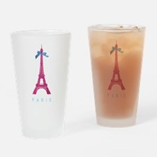 Pink Paris Eiffel Tower Drinking Glass