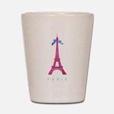 Pink Paris Eiffel Tower Shot Glass