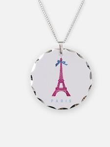 Pink Paris Eiffel Tower Necklace