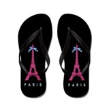 Paris eiffel tower Flip Flops