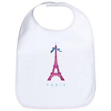 Pink Paris Eiffel Tower Bib