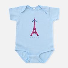 Pink Paris Eiffel Tower Infant Bodysuit