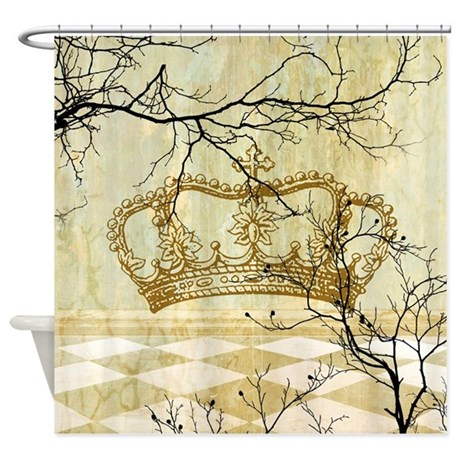 Crown fantasy collage shower curtain by oph3lia for Fantasy shower curtains