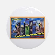 San Diego California Greetings Ornament (Round)