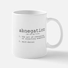 Abnegation Definition Mug