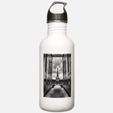 Eiffel tower viewed from wall for peace Water Bottle