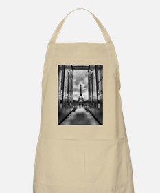 Eiffel tower viewed from wall for peace Apron