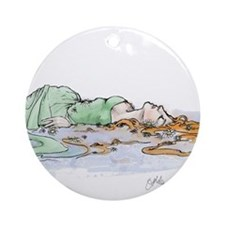 Ophelia In The Water Ornament (Round)