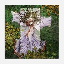 Fairy Tale Sleeping Woman Tile Coaster