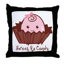 Sweet As Candy Baby Throw Pillow