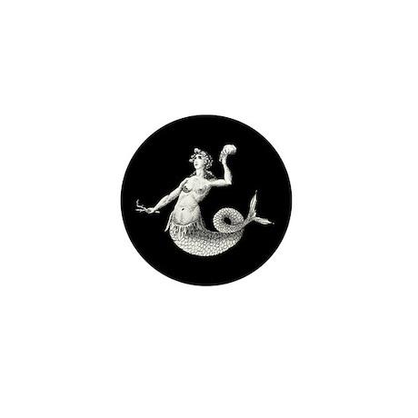 Vintage Mermaid Mini Button