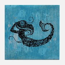 Worn Mermaid Graphic Tile Coaster