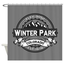 Winter Park Grey Shower Curtain