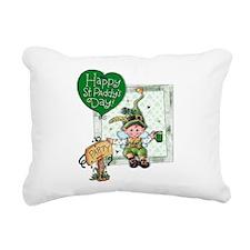 Happy St Rectangular Canvas Pillow