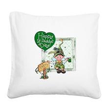 Happy St Square Canvas Pillow