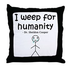 Big Bang Weep Throw Pillow