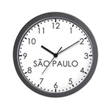 Time zone brazil Wall Clocks