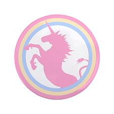"Retro Pink Unicorn 3.5"" Button"