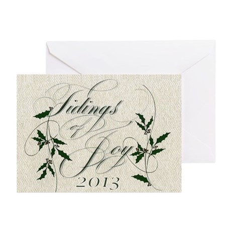 Tidings 3 Greeting Cards (Pk Of 10)