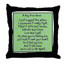 Hug from Home blue/green Throw Pillow