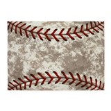 Vintage baseball 5x7 Rugs