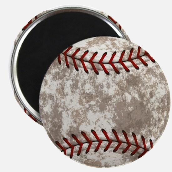 Baseball Vintage Distressed Magnet