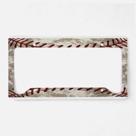 Baseball Vintage Distressed License Plate Holder