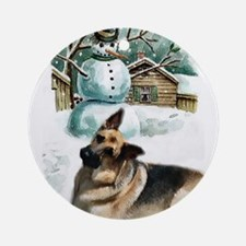 German Shepherd Ornament (Round)