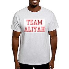 TEAM ALIYAH  Ash Grey T-Shirt