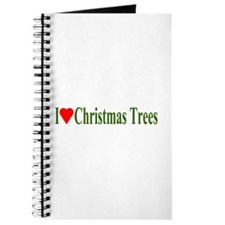 I Love Christmas Trees Journal