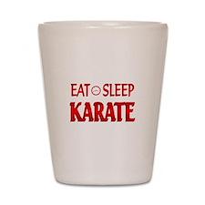 Eat Sleep Karate Shot Glass