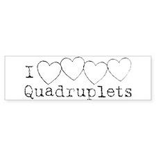 i heart quadruplets Bumper Bumper Sticker