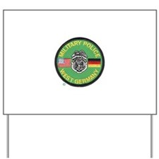 U S Military Police West Germany Yard Sign