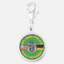 U S Military Police West Germany Silver Round Char