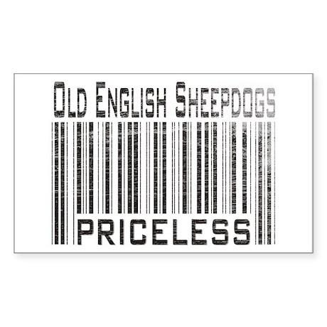 Old English Sheepdog Owner Lover Sticker (Rectangu