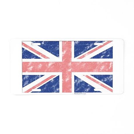 UK Flag Vintage Aluminum License Plate