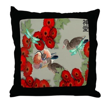 Mandarin Love Throw Pillow