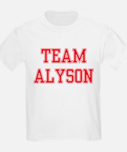 TEAM ALYSON  Kids T-Shirt