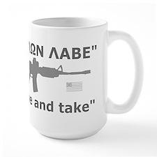 Come and Take Grey AR-15 rev Flag Mug