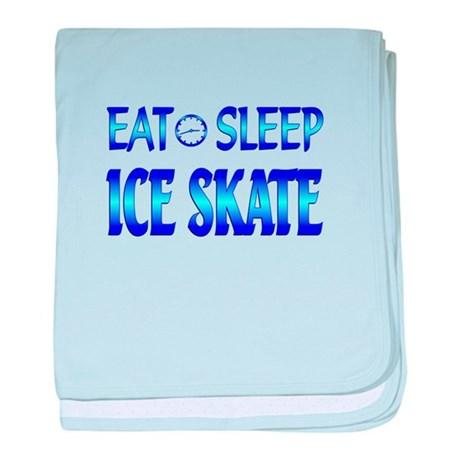 Eat Sleep Ice Skate baby blanket