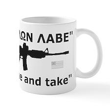 Come and Take Black AR-15 Rev Flag Mug