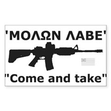 Come and Take Black AR-15 Rev Flag Decal