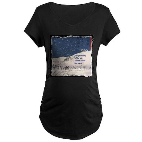 Hiroshige and Haiku Maternity Dark T-Shirt
