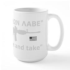 Come and Take White AR-15 Rev Flag Mug